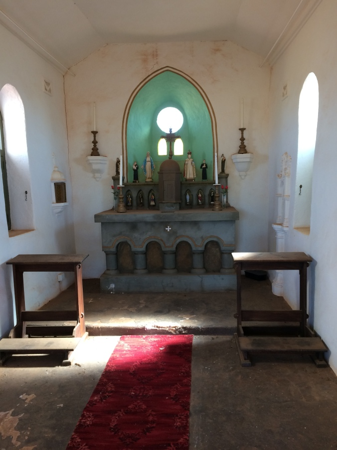Simple decor inside the chapel